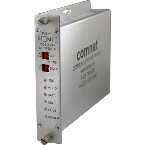 COMNET Single Mode 10-Bit Digitally Encoded Video Transmitter/Bi-Directional Data Transceiver (Up to 30 mi)