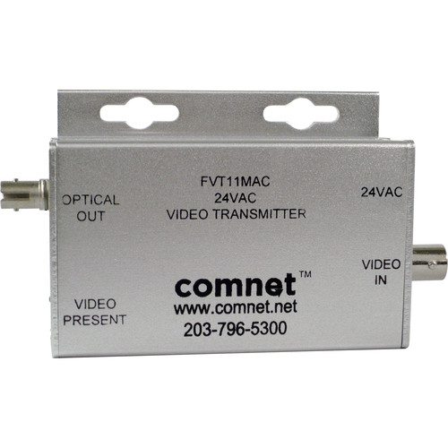 COMNET Multimode 850nm Mini Video Transmitter with 24 VAC Transformer Isolated (Up to 1.6 mi)