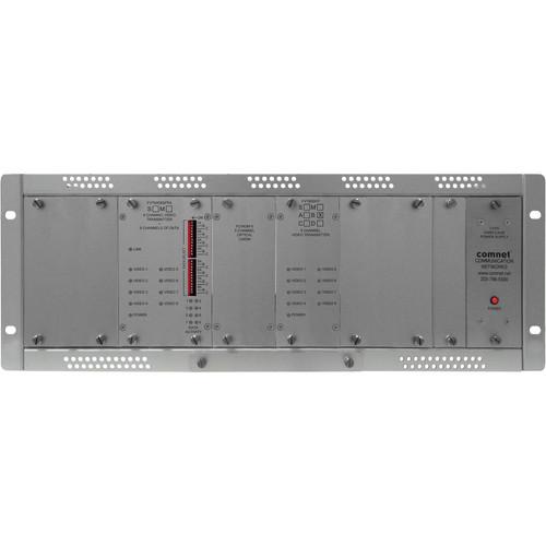 COMNET Single Mode 16-Channel 10-Bit Digital Video Transmitter/8-Channel Bi-Directional Data Transceiver (Up to 35 mi)