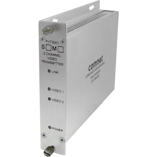 COMNET Multimode 2-Channel 10-Bit Digital Video Transmitter (Up to 2 mi)