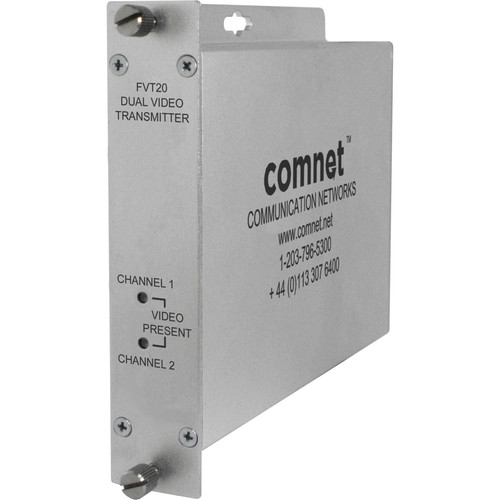 COMNET Multimode Dual Video Transmitter (Up to 2.5 mi)
