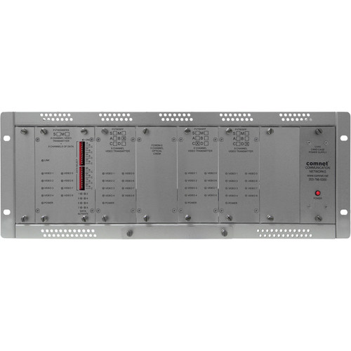 COMNET Single Mode 32-Channel Digitally Encoded Video Transmitter/8-Channel Bi-Directional Data Transceiver (Up to 22 mi)