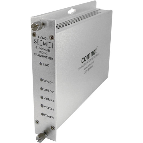 COMNET Single Mode 1310nm 4-Channel 10-Bit Digital Video Transmitter (Up to 43 mi)