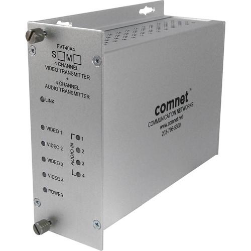 COMNET Single Mode 1310/1550nm 4-Channel 10-Bit Video/24-Bit Audio Transmitter (Up to 30 mi)
