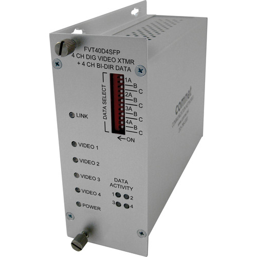 COMNET 4-Channel Video/4-Channel Bi-Directional Data Transmitter