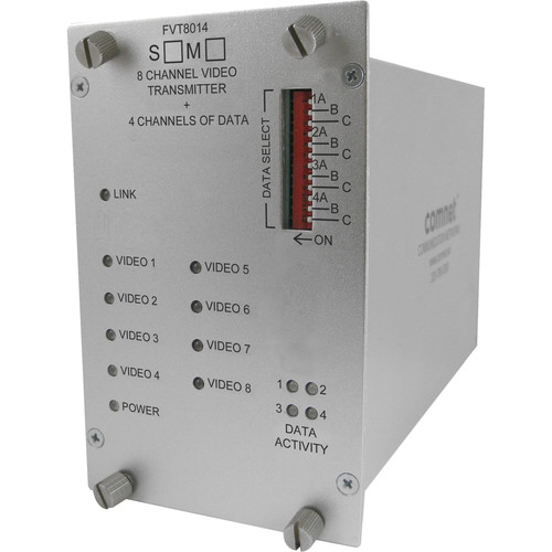 COMNET 8-Channel 10-Bit Video Transmitter + Bi-Directional Data Transceiver