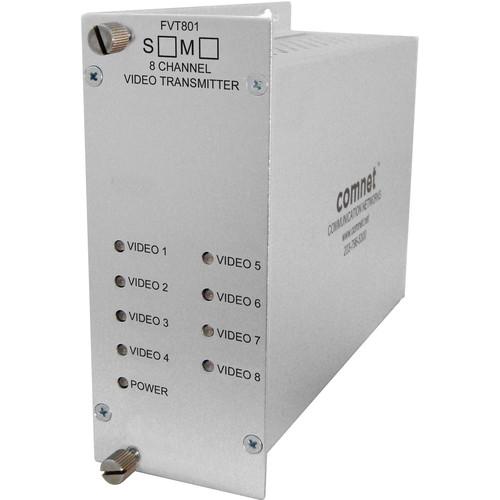 COMNET Single Mode 1310nm 8-Channel 10-Bit Digital Video Transmitter (Up to 30 mi)