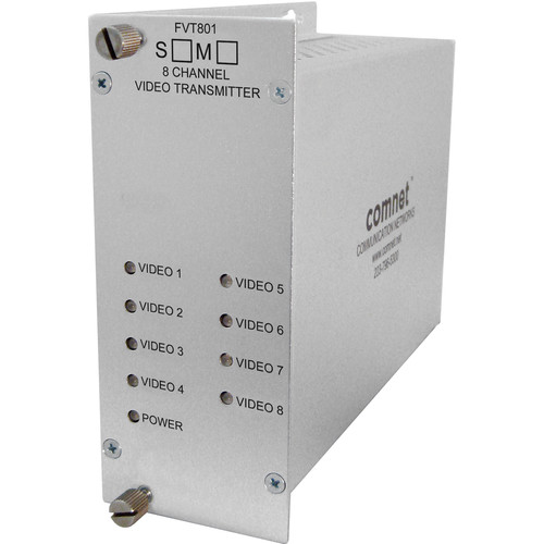 COMNET Single Mode 1310nm 8-Channel 10-Bit Digital Video Transmitter (Up to 30 mi)