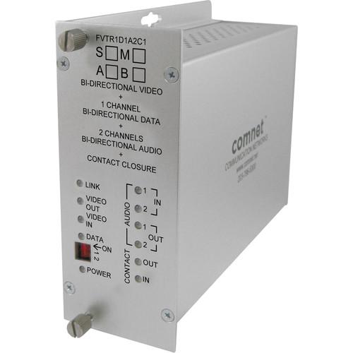 COMNET 10-Bit Video/Data/Audio/Contact Single Mode Transceiver (Up to 30 mi)