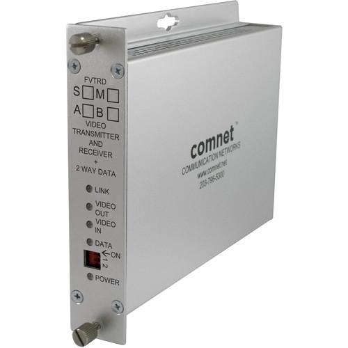 COMNET Single Mode 10-Bit Digital Bi-Directional Video Receiver/Bi-Directional Data Transceiver (Up to 30 mi)