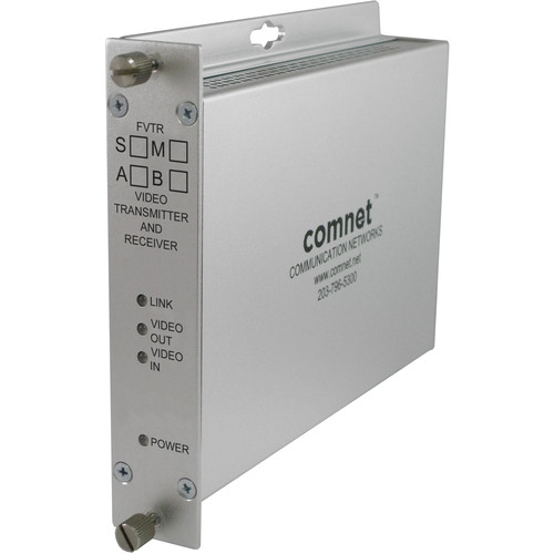 COMNET 10-Bit Digital Bi-Directional Video/Sync Multimode 1310/1550nm Transmitter (Up to 2 mi)