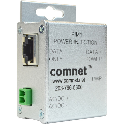 COMNET Passive Power Over Ethernet (PoE) Midspan Injector for 10/100TX