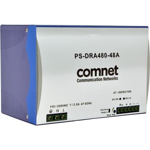 COMNET PS-DRA Series 48V Industrial DIN-Rail Mounting Power Supply (480W)