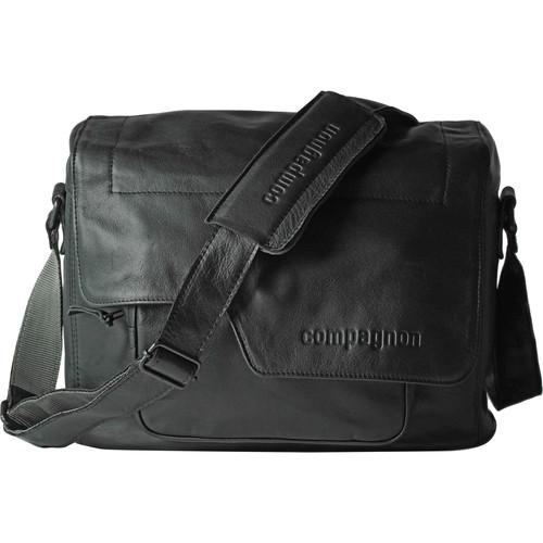 "compagnon ""the medium messenger"" Leather Camera Bag (Black)"