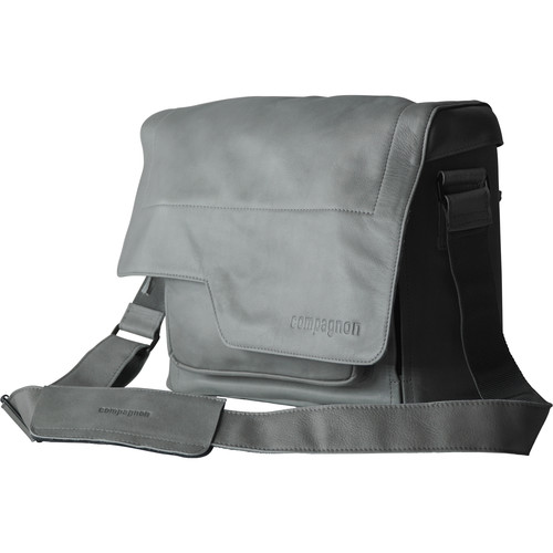 """compagnon """"the messenger"""" Generation 2 Camera Bag (Gray, Leather)"""