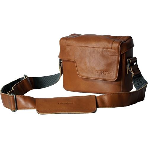 "compagnon ""The Nano Messenger"" Leather Camera Bag (Light Brown)"