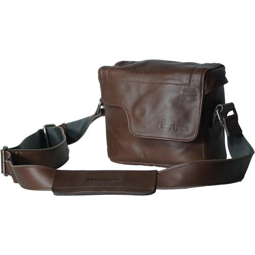 """compagnon """"The Nano Messenger"""" Leather Camera Bag (Dark Brown)"""