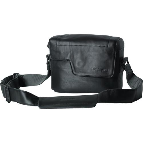 """compagnon """"The Nano Messenger"""" Leather Camera Bag (Black)"""