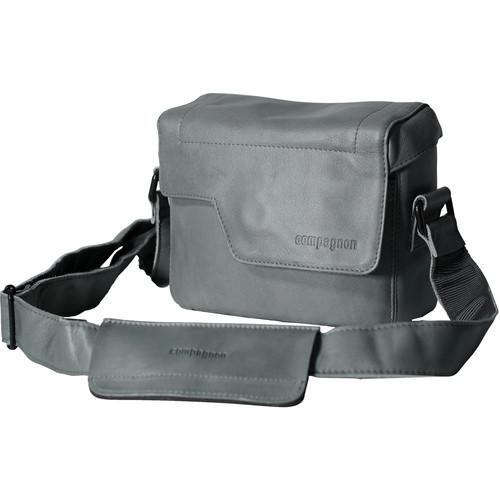"""compagnon """"The Nano Messenger"""" Leather Camera Bag (Gray)"""
