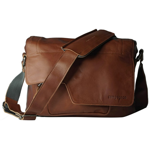"""compagnon """"The Little Messenger"""" Camera Bag (Light Brown, Leather)"""