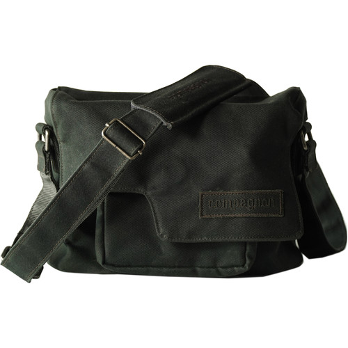 "compagnon ""The Little Messenger"" Generation 2 Camera Bag (Dark Green, Waxed Canvas)"