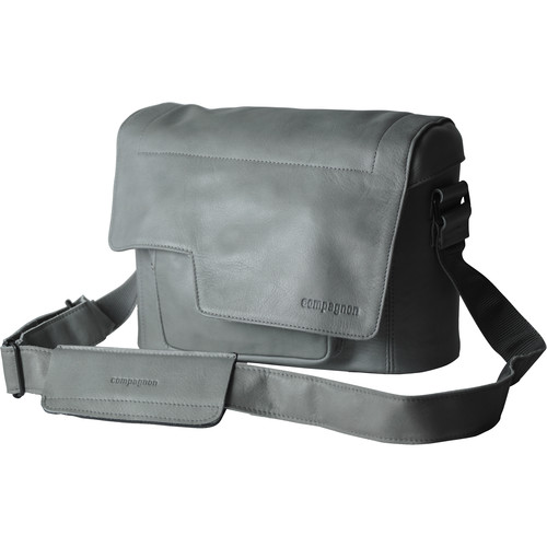 "compagnon ""The Little Messenger"" Generation 2 Camera Bag (Gray, Leather)"