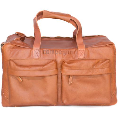 compagnon Weekender Leather Camera & Laptop Bag (Light Brown)