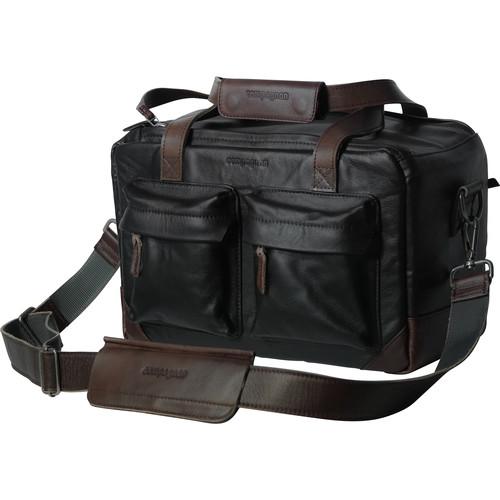 "compagnon ""The Little Weekender"" Leather Bag (Black / Dark Brown)"