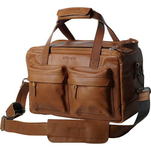 """compagnon """"The Little Weekender"""" Leather Bag (Light Brown)"""