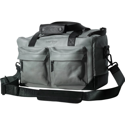 """compagnon """"The Little Weekender"""" Leather Bag (Gray / Black)"""