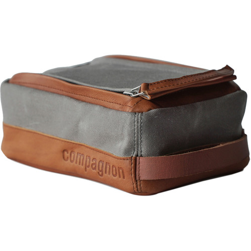 """compagnon """"The Toolbag"""" Accessory Case (Gray / Light Brown)"""