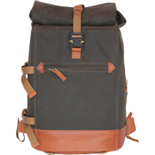 compagnon The Backpack for Camera & Laptop (Dark Green / Light Brown)