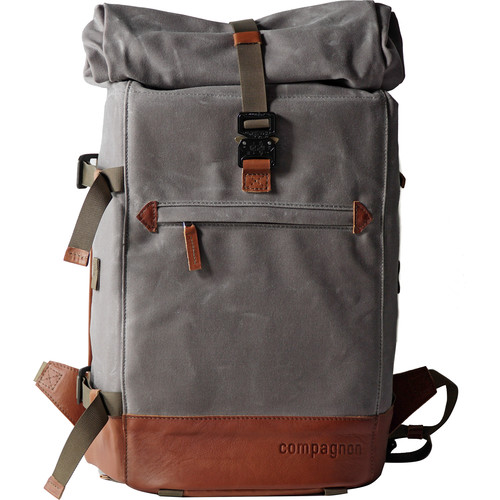 compagnon The Backpack for Camera & Laptop (Gray / Light Brown)
