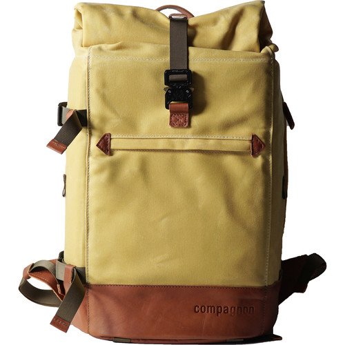 compagnon The Backpack for Camera & Laptop (Yellow / Light Brown)