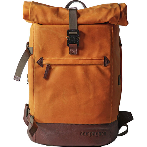 compagnon The Backpack for Camera & Laptop (Orange / Dark Brown)