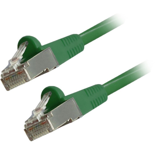 Comprehensive Cat 6 Snagless Shielded Ethernet Cable (10', Green)