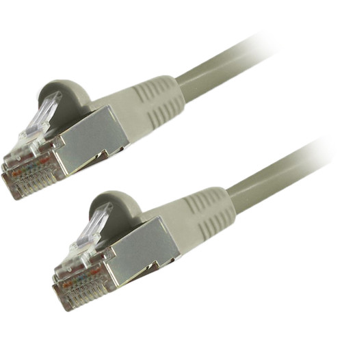 Comprehensive Cat 6 Snagless Shielded Ethernet Cable (7', Gray)