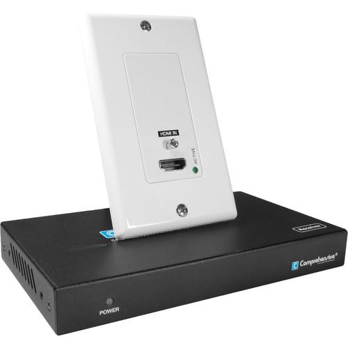 Comprehensive Pro AV/IT HDBaseT 4K60 18G Single Gang HDMI Wall Plate Extender Kit Range up to 230'