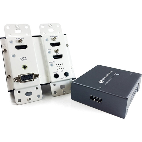 Comprehensive 4K HDBaseT Wall Plate Extender with HDMI & VGA/Audio