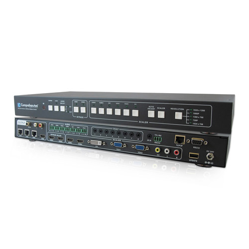 Comprehensive Multi-Input to HDMI Switcher with HDBaseT Output (330')