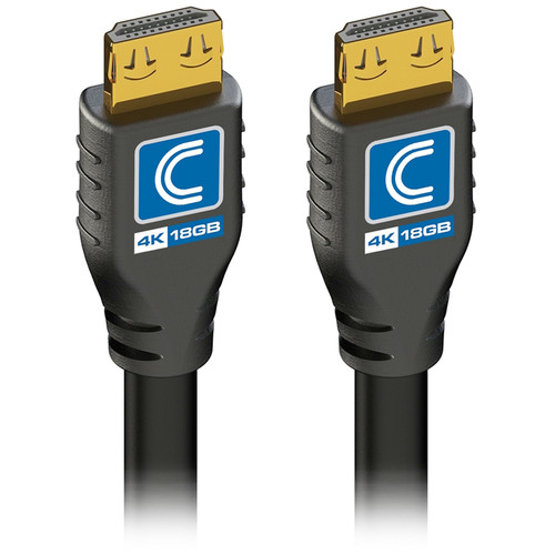 Comprehensive Pro AV/IT 18 Gb/s 4K Active HDMI Cable with ProGrip (50', Black)