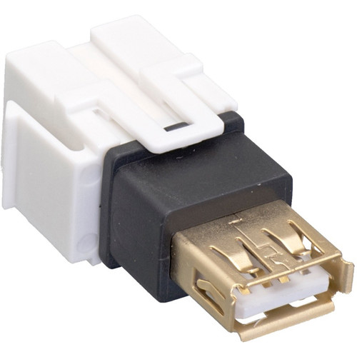 Comprehensive Keystone Jack Feedthrough Module USB 2.0 Type-B Female to USB Type-A Female Adapter