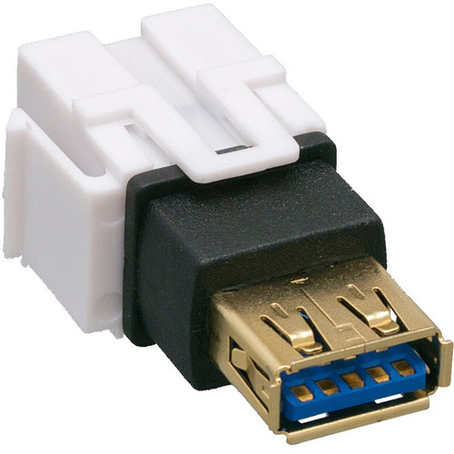Comprehensive Keystone Jack Feedthrough Module USB 3.0 Type-A Female to USB Type-A Female Adapter