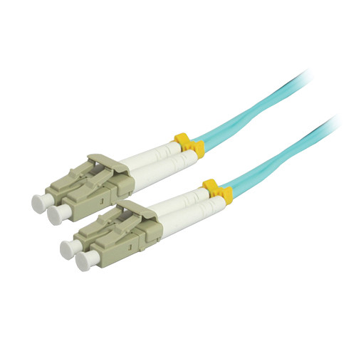 Comprehensive 10GB LC/LC Duplex 50/125 Multimode Fiber Patch Cable (Aqua, 65.6')