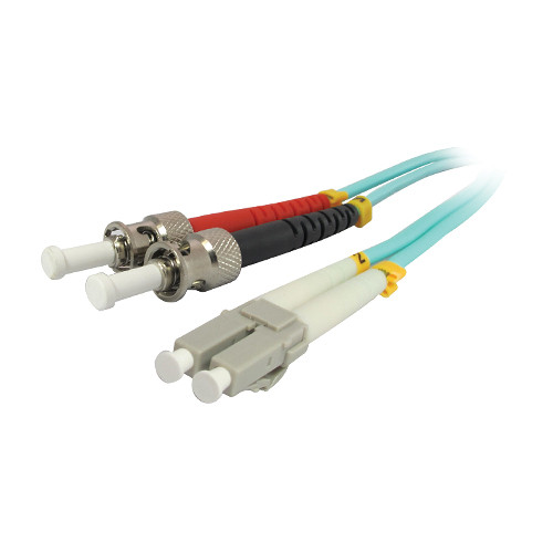 Comprehensive 10GB LC/ST Duplex 50/125 Multimode Fiber Patch Cable (Aqua, 6.5')