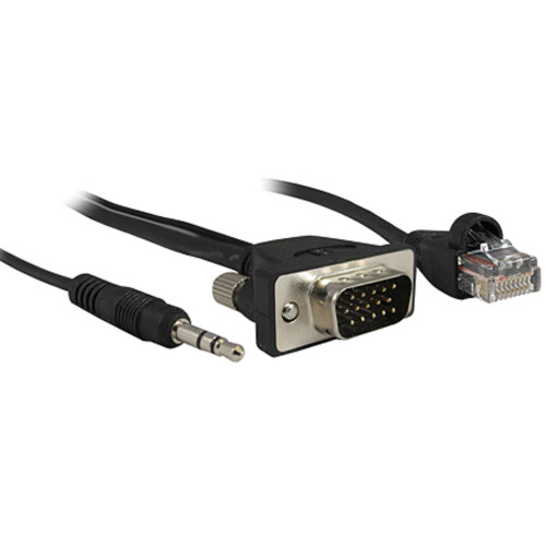 Comprehensive Pro AV/IT Series Micro VGA Male to Male with Audio and LAN Cable (Black, 3')