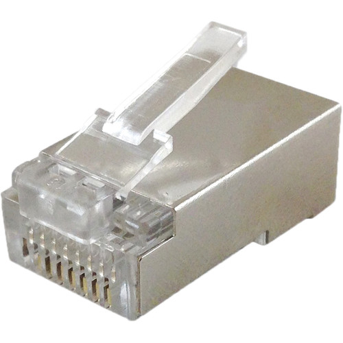 Comprehensive RJ-45 Shielded Plug 50u Gold Plated, 8 Position, 8 Conductor Computer Connector