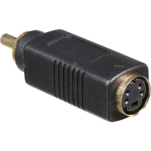 Comprehensive S-Video 4-Pin Female to RCA Male Bi-Directional Adapter