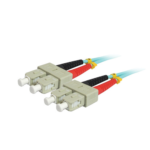Comprehensive 10GB SC/SC Duplex 50/125 Multimode Fiber Patch Cable (Aqua, 9.8')