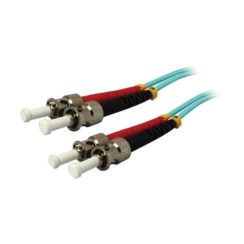 Comprehensive 10GB ST/ST Duplex 50/125 Multimode Fiber Patch Cable (Aqua, 65.6')